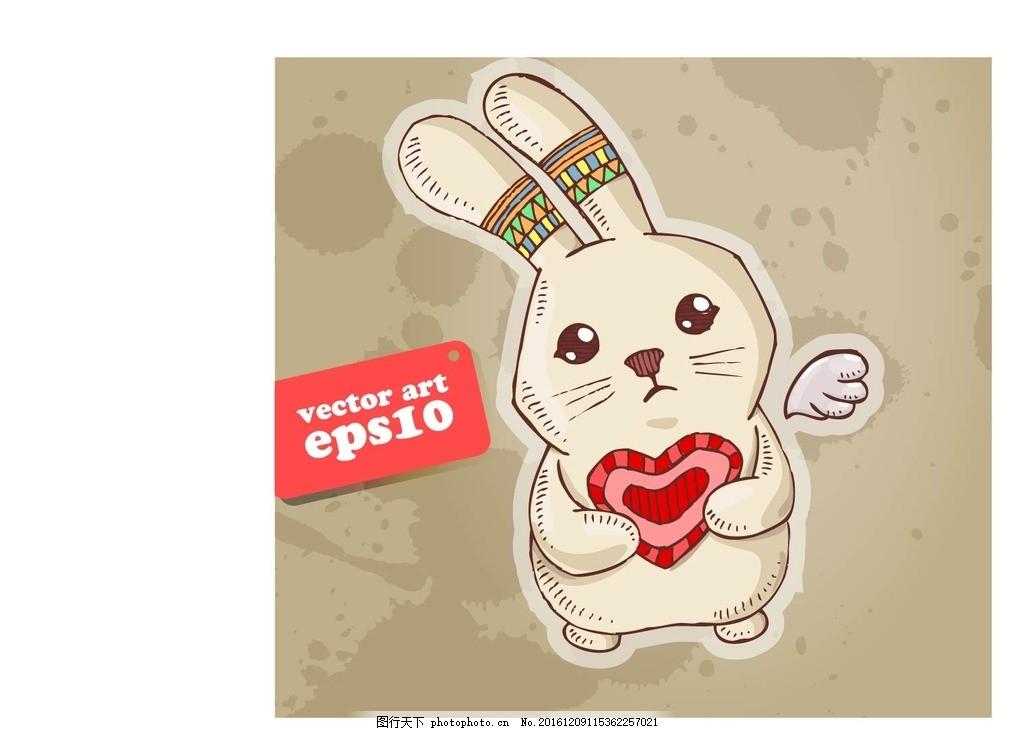 卡通可爱小兔素材