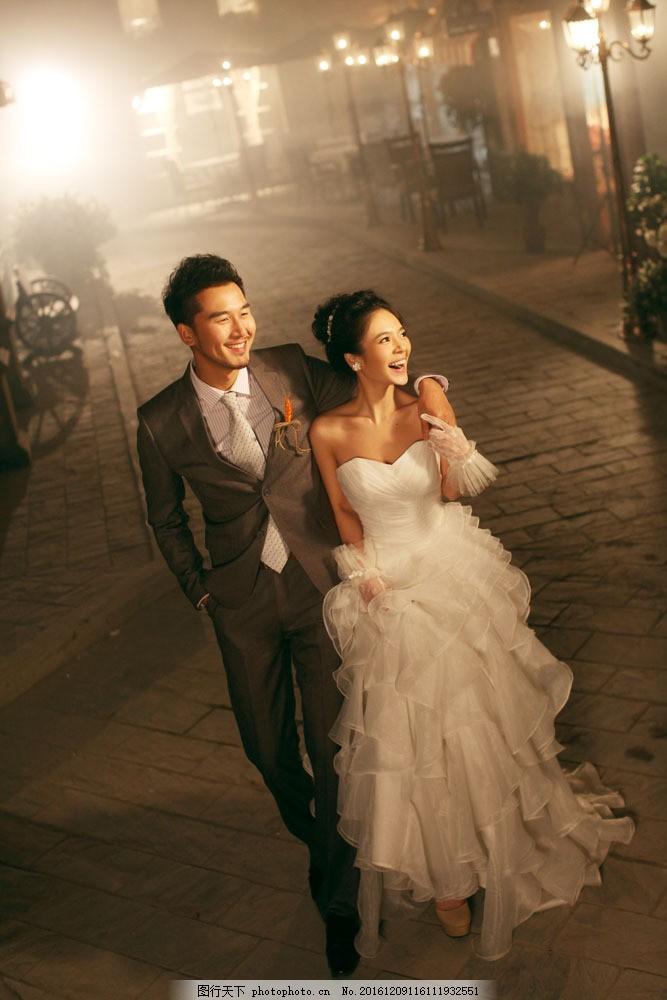 夜晚风景婚纱摄影 夜晚风景婚纱摄影图片素材 婚纱照 新娘 美丽女人
