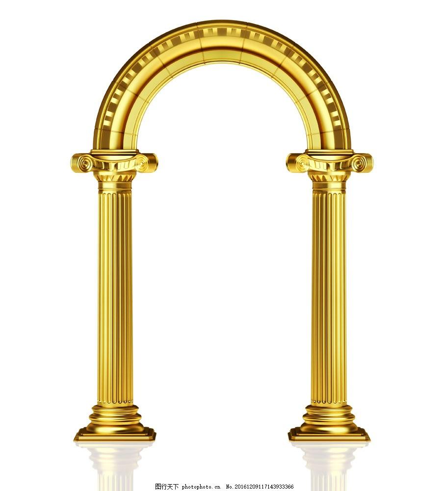 金色罗马柱图片素材 罗马柱 柱子 建筑 金色 其他类别 生活百科 图片