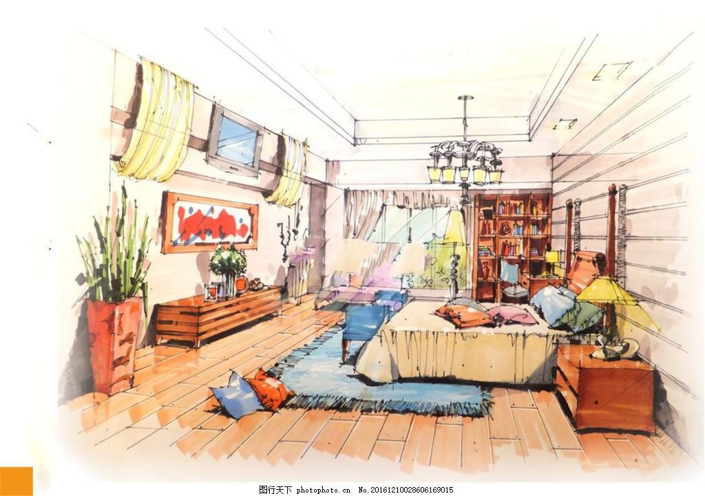 卧室装修效果图 室内设计 家装效果图 家装平面图 施工图 家装效果图