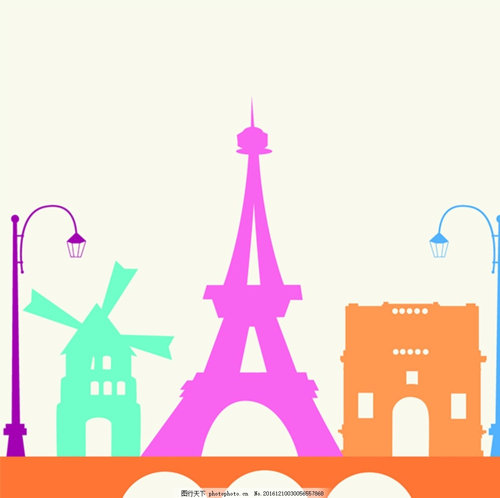 手绘国外地标建筑 建筑矢量素材 著名建筑 设计伦敦英文 旅游景区