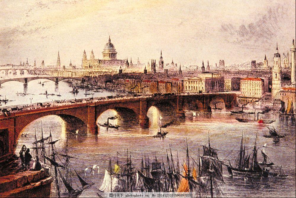 城市风景油画图片素材 无框画 装饰画 油画 绘画艺术 抽象画 风景写生