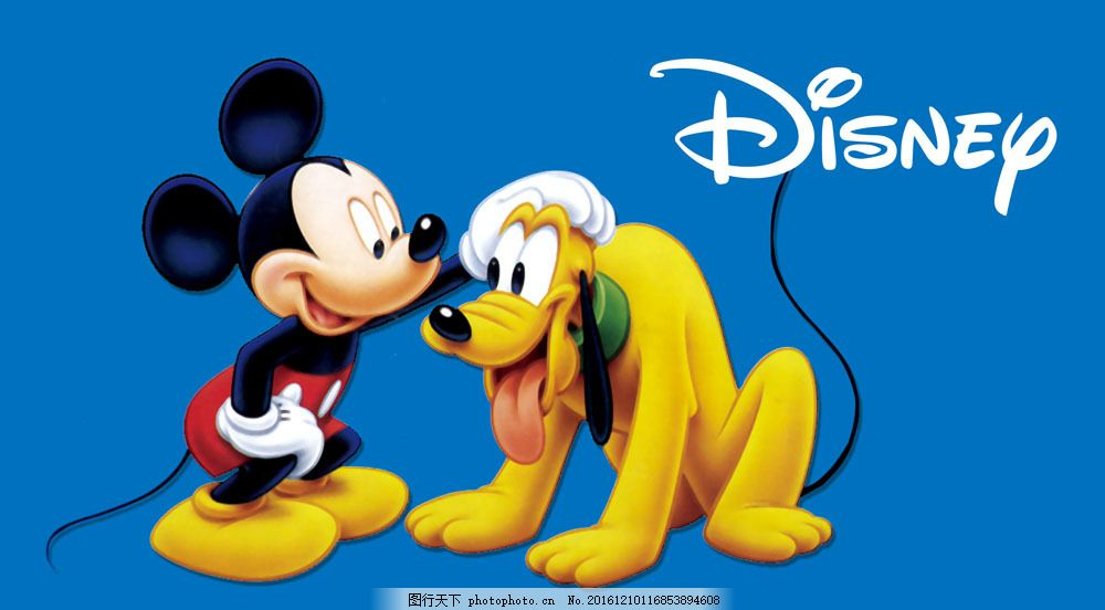 米奇与布鲁托图片素材 卡通 装饰画 可爱 卡通画 米奇 布鲁托 小狗 米