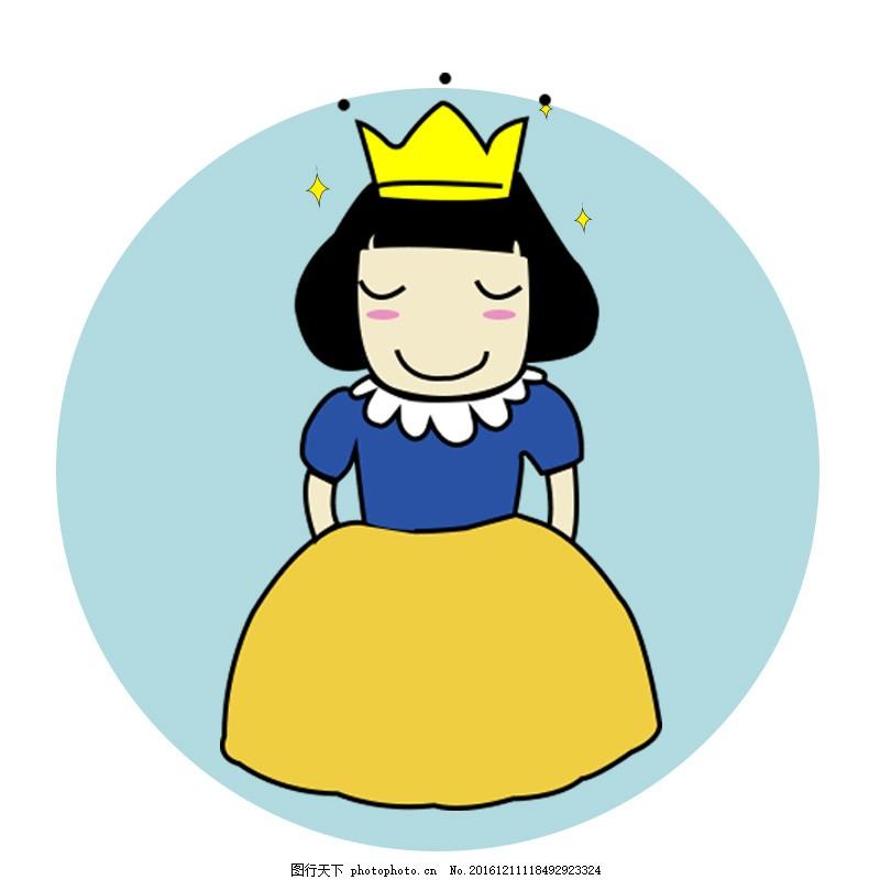 女神节主图手绘头像 手绘公主素材 女神节背景三八节背景可爱萝莉头像