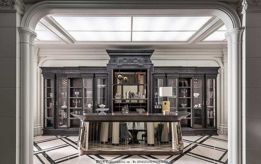 室内设计,欧式 茶水间 地砖 柜台 高清大图 摄影-图行