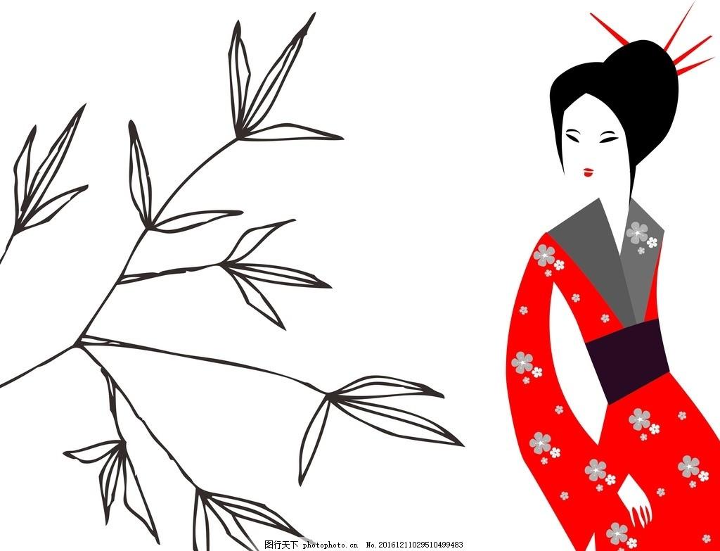 竹子简笔画卡通动漫