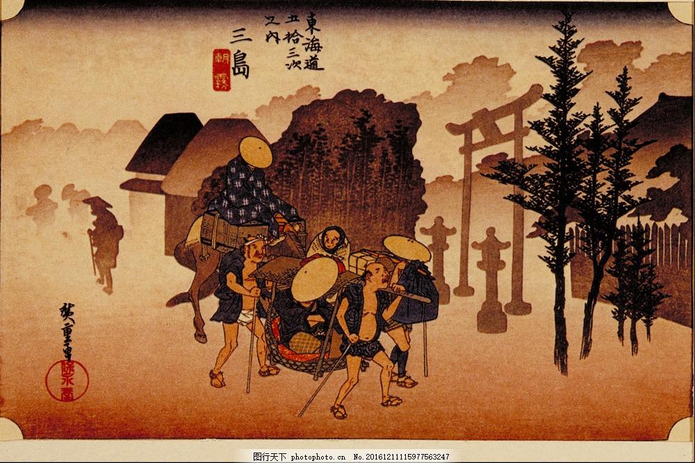 乡村田园油画背景图片