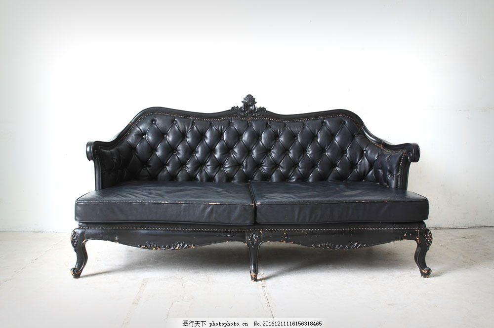 地板上的黑色沙发 地板上的黑色沙发图片素材 椅子 欧式沙发 家具