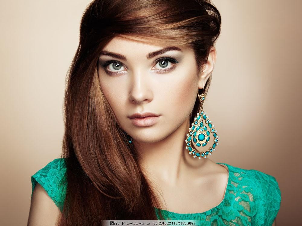 珠宝美容美女模特图片