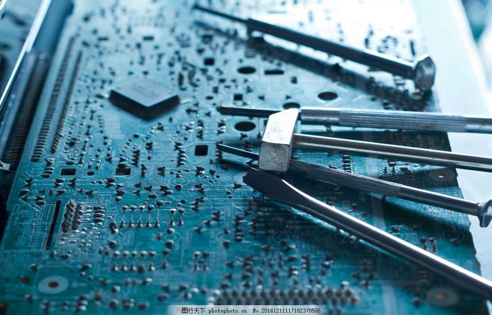 电路板图与工具 电路板图与工具图片素材 电线 电脑 维修 修理