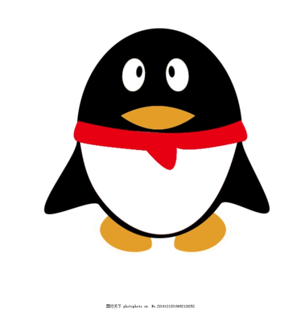 qq 企鹅 q版 呆萌 黑色 红色 鹅黄色 设计 动漫动画 其他 198dpi psd