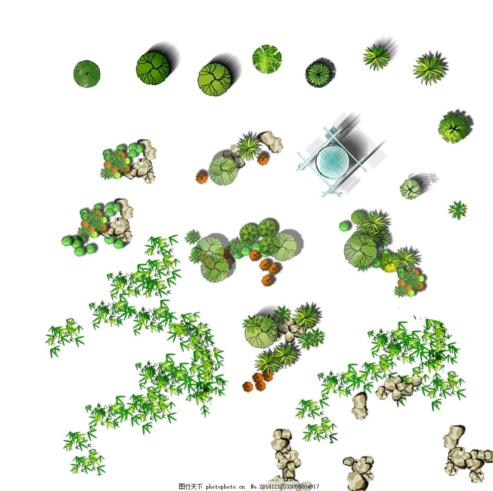 绿化 平面 图例 园林 景观