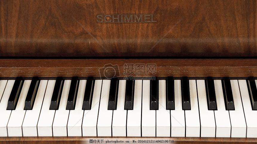 钢琴 键盘 仪器 黑白 钢琴键 钢琴键盘 乐器 红色