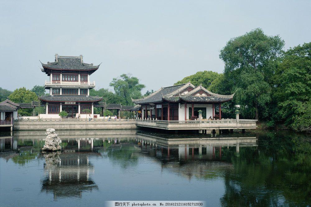 中国风 河流 阁楼 房子 古代建筑 著名建筑 建筑 建筑物 建筑摄影