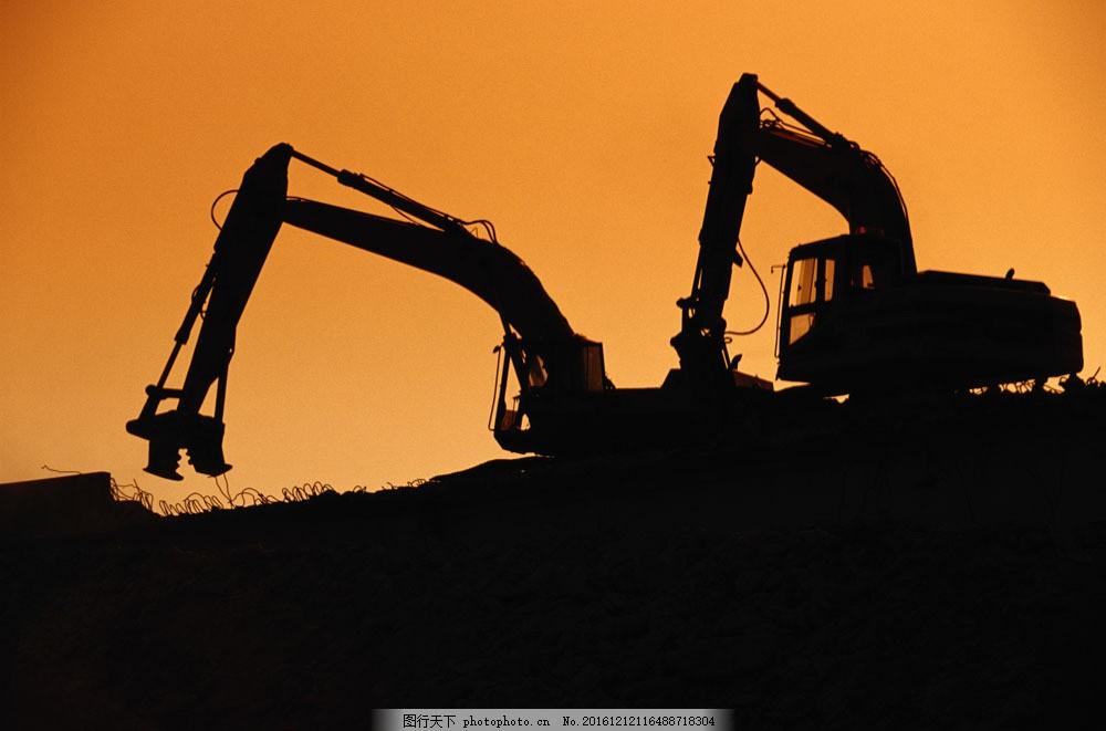 工业生产挖土机图片素材 工业产品 工业生产 科技 金属 工业科技 现代