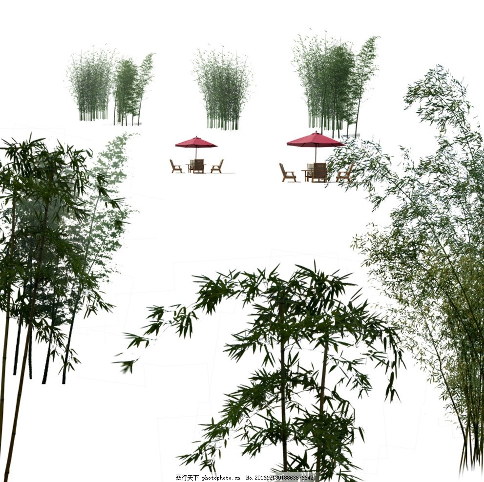 红月亮 竹子向量 竹子素材 中国风竹子 竹子图 竹报平安 竹子风景