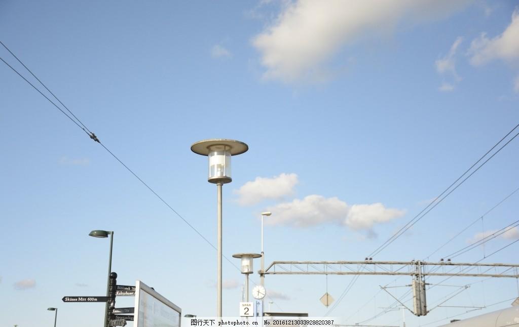 欧洲 小镇 路灯 电线 复古 清新 美丽 构图 摄影 旅游摄影 国外旅游