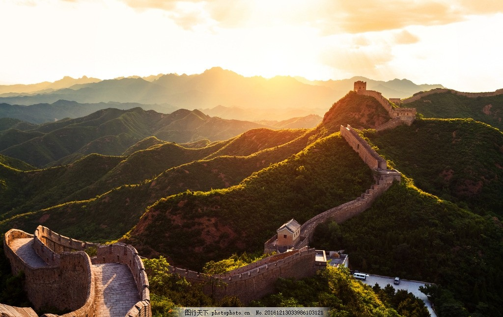 长城 唯美 风景 风光 旅行 自然 北京 八达岭 夕阳 摄影 国内旅游