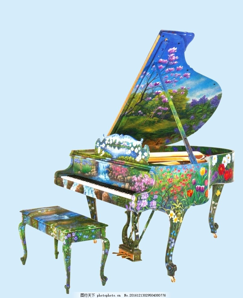 中国风钢琴创意