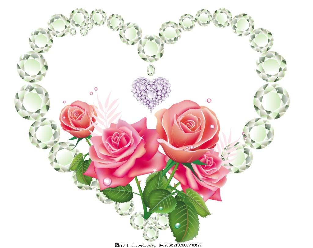 手绘玫瑰花 蝴蝶花 手绘玫瑰 服装 服饰 服饰面料 花型面料 花纹 花纹