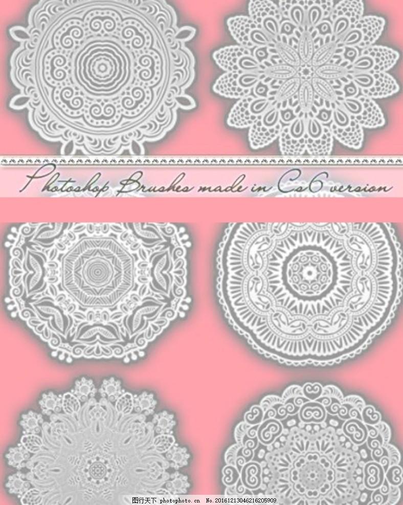笔刷 花 花纹 手绘 花朵 花卉 涂鸦 底纹 蕾丝 装饰 多媒体