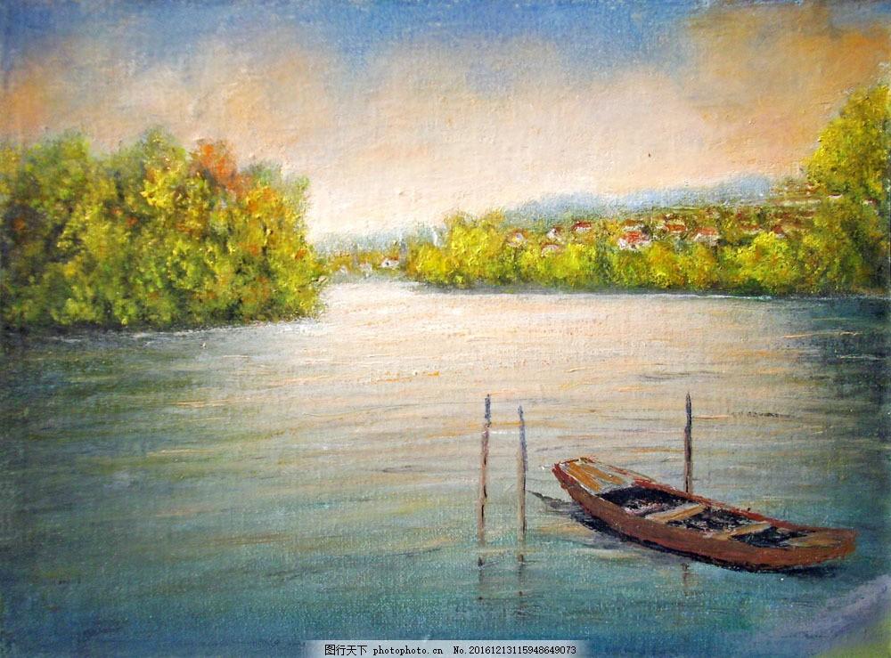 风景油画写生图片