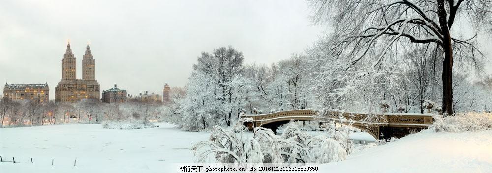 横幅美丽的冬季风景图片