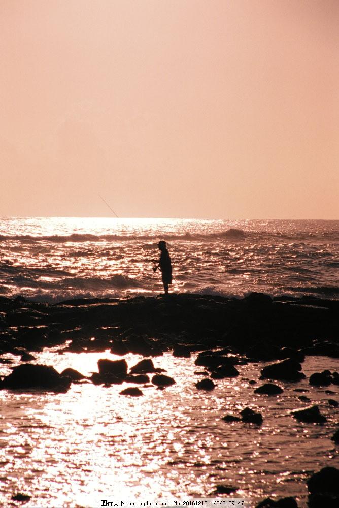 海边风景 太平洋 蓝天白云 沙滩 海滩 海平面 大海 海洋 海平面 钓鱼