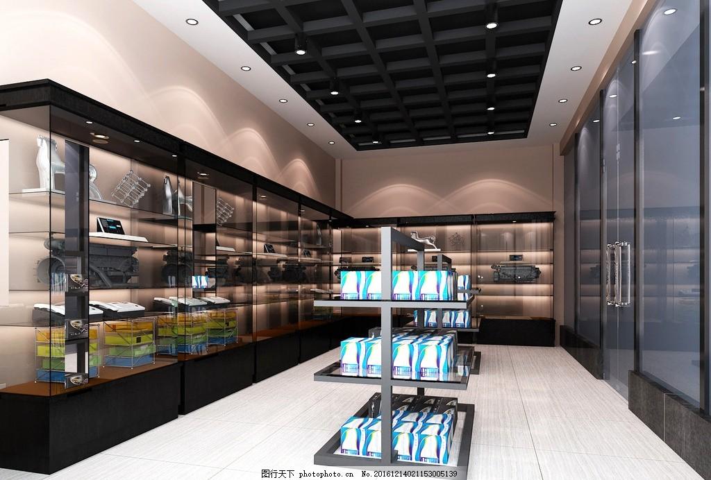超市效果图 货架 货架效果图 汽车用品 汽车超市 货柜效果图 玻璃柜