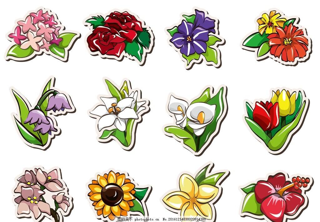 手绘花朵,儿童 小学 幼儿园 黑板报 手抄报 卡通-图行