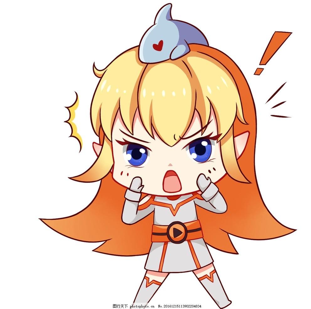 鲨鱼娘 斗鱼 可爱 手绘 动漫动画 动漫人物