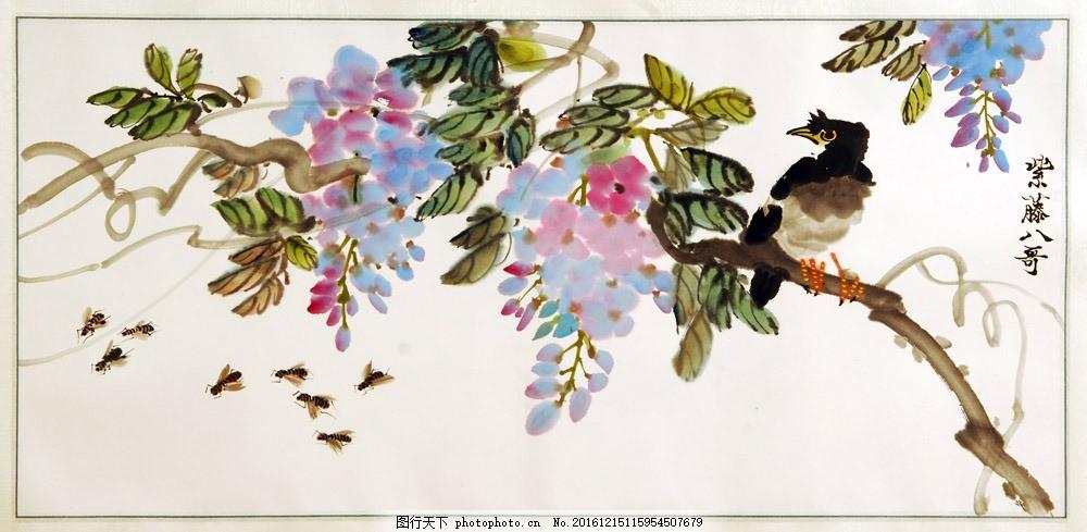 彩色手绘装饰画 彩色手绘装饰画图片素材 国画 油画 插画 无框画