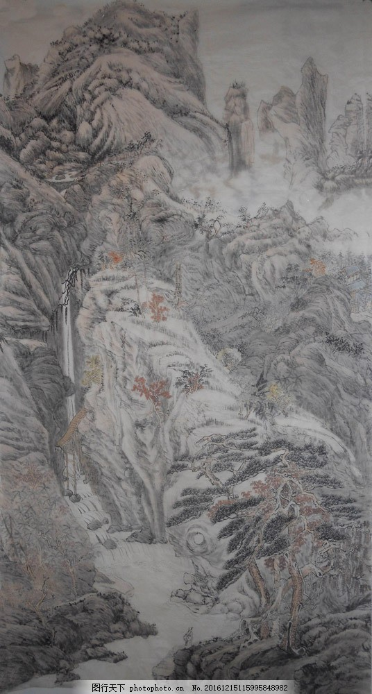 风景写意国画图片素材 水墨画 名画 山水画 风景国画 国画 中国画
