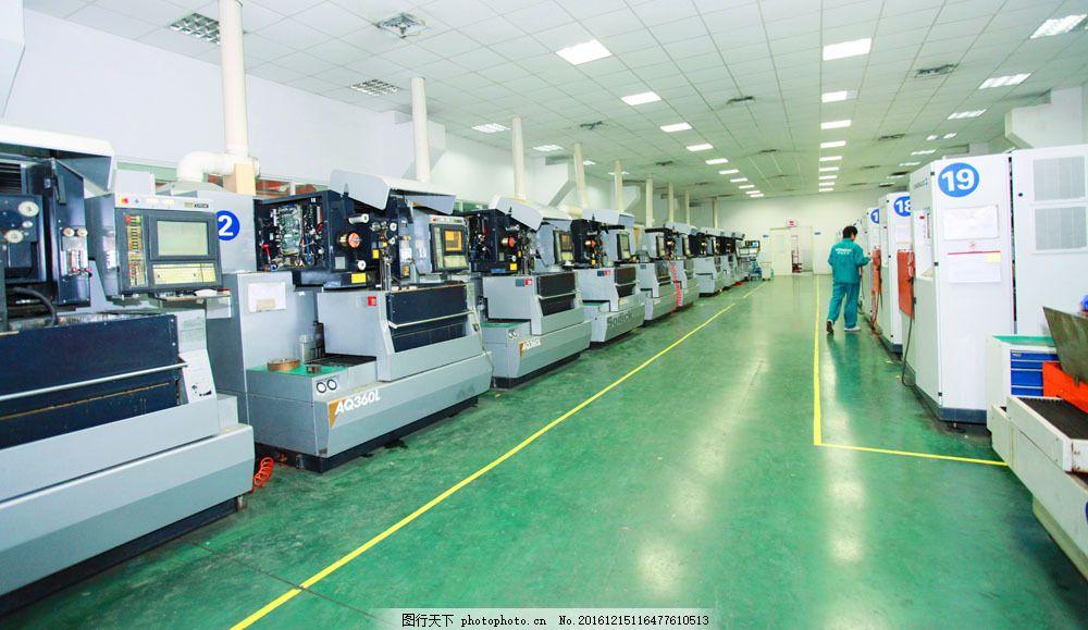 生产车间摄影 生产车间摄影图片素材 机械 机器 加工 室内装饰