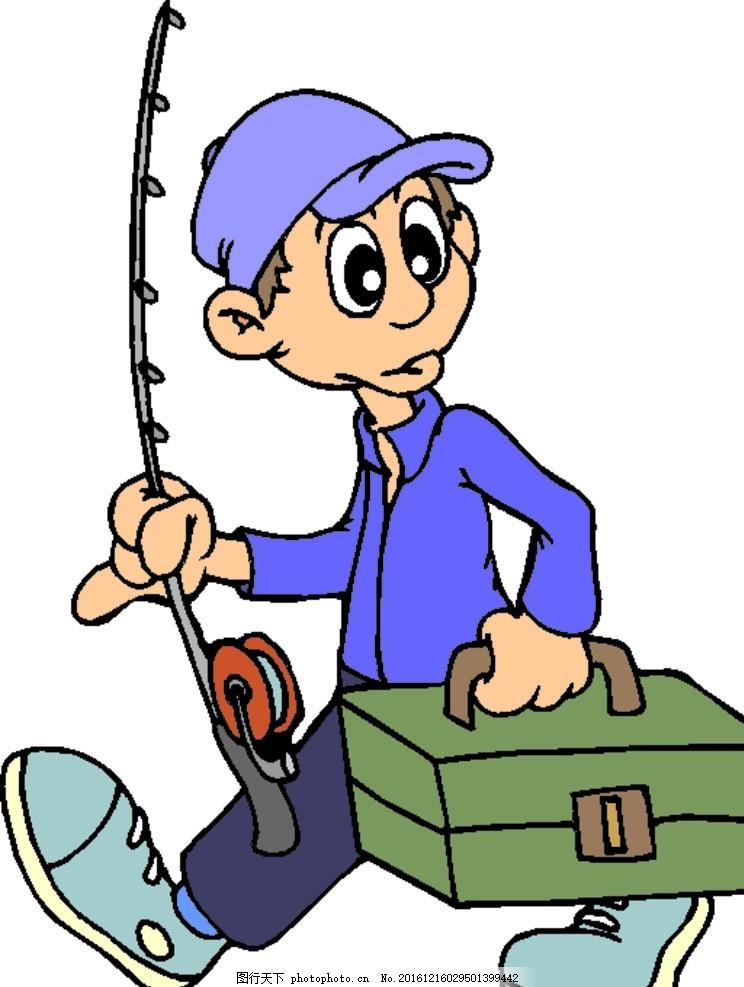 卡通人物 手绘 人物 设计 动漫动画 动漫人物 cdr 男人 戴帽子男人