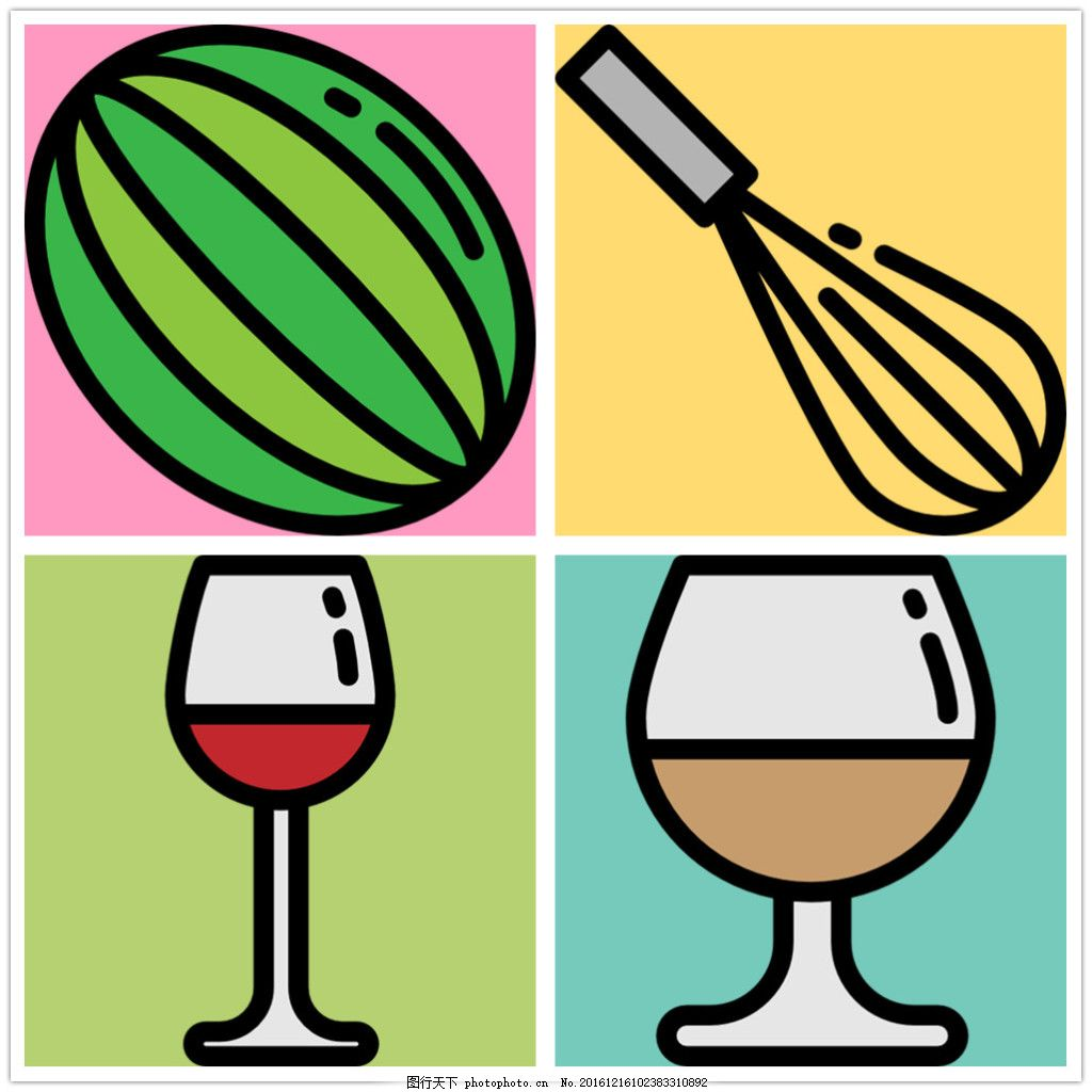 可爱手绘食物icon图标