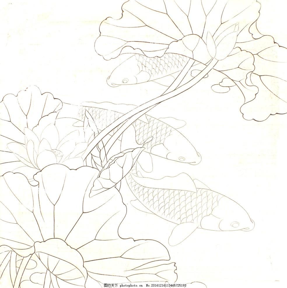 美术 荷花 素描 黑白 手绘 绘画 白描 绘画素材 广告设计 书画 铅笔画