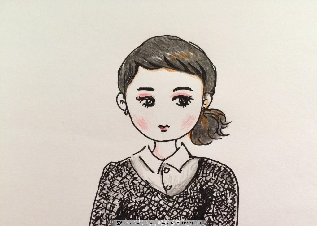 漫画人物手绘 漫画公主 女孩手绘 卡通 卡通公主 运漫 纯手绘