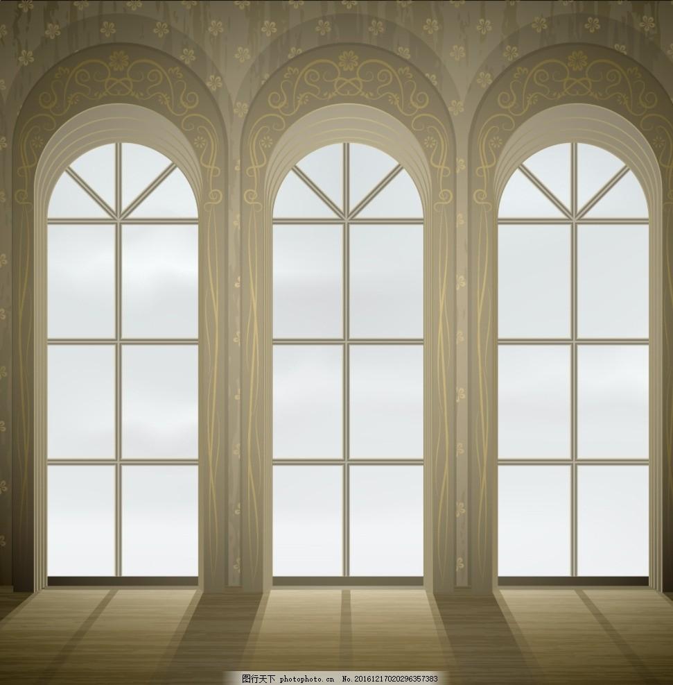 窗户 窗台 欧式 花纹 底纹 背景 古代 古老 教堂 设计 底纹边框 背景