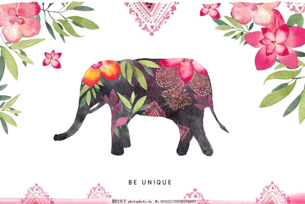 婚礼邀请卡 卡片 卡通人物 木纹 花卉 水彩 邀请卡 手绘 婚礼背景