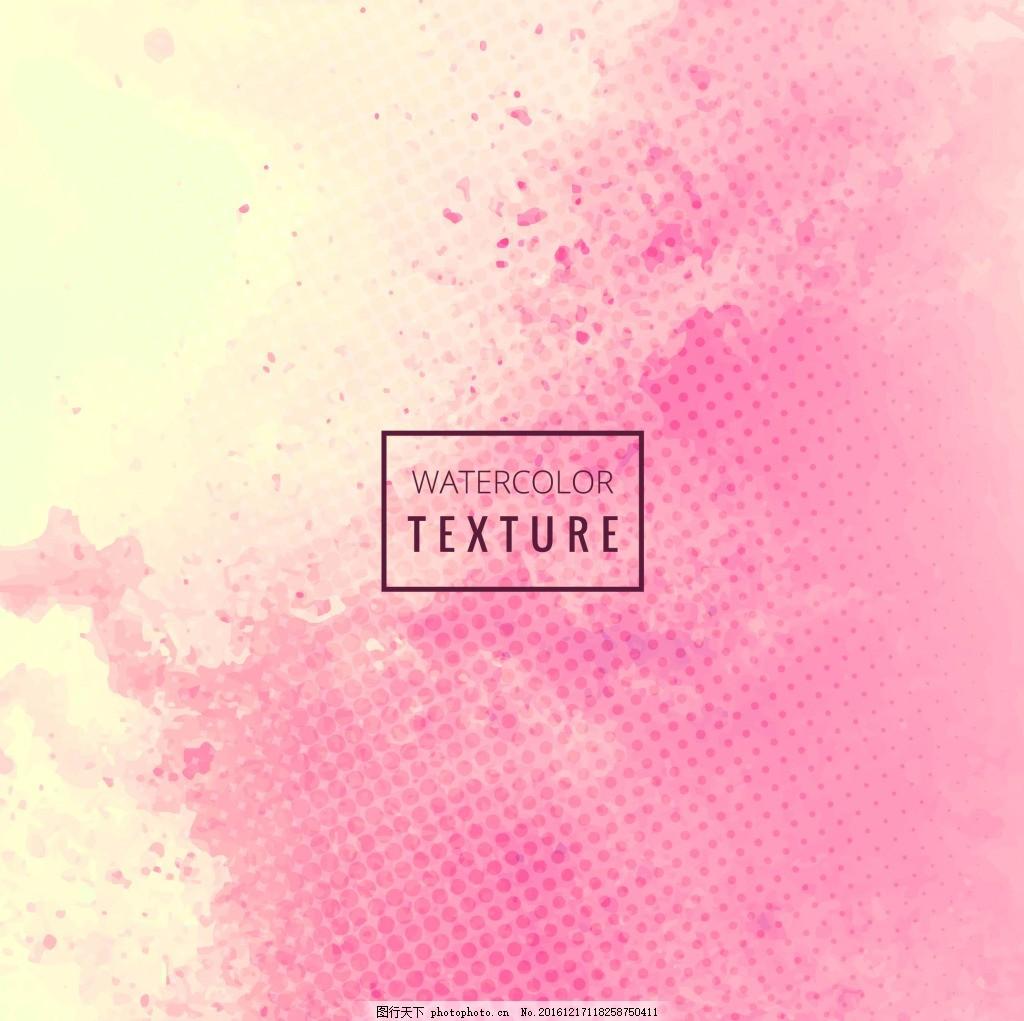 红黄点状背景素材 背景 素材 创意 简约 欧式 红色 玫红 粉红