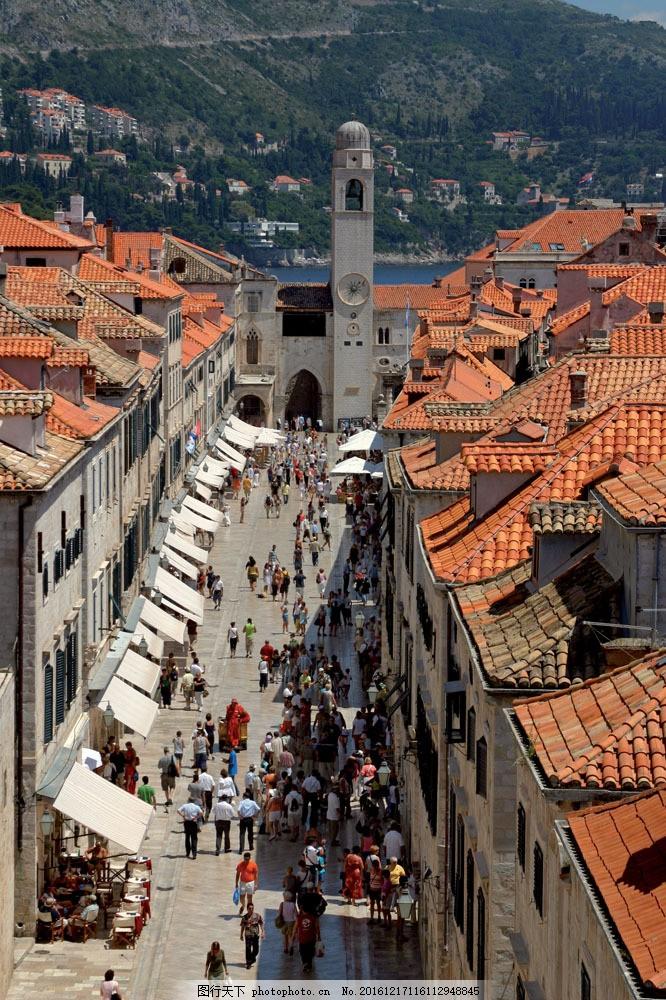 克罗地亚城市街头风景图片