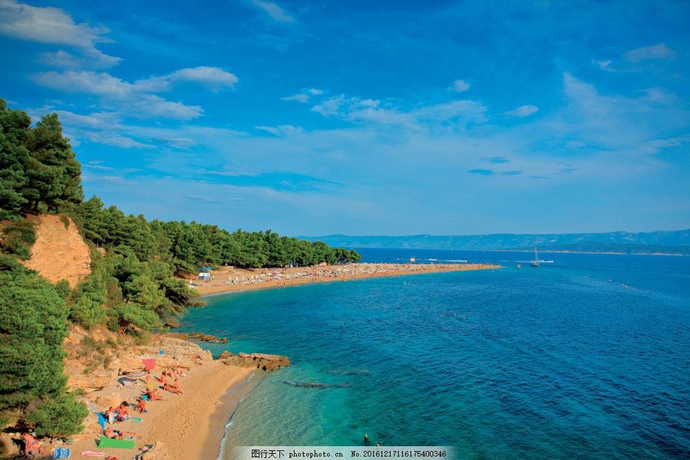 美丽大海海岸风景图片
