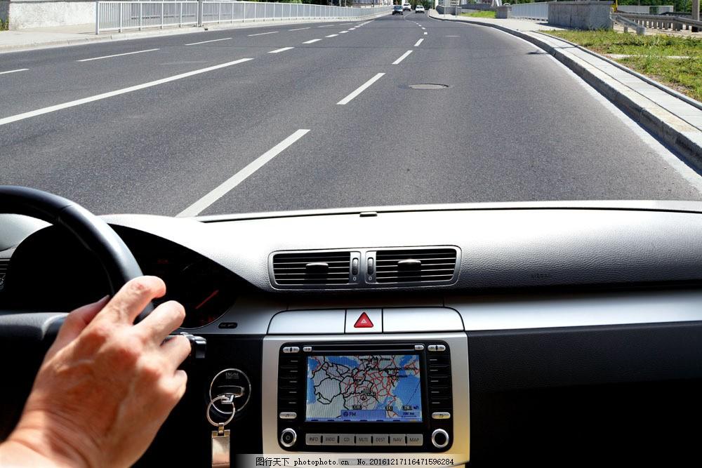 汽车导航仪图片素材 gps导航仪 卫星 地图 车内 车载导航仪 gps 科技