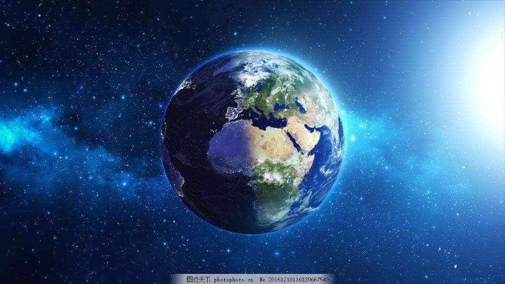 美丽地球与星空图片