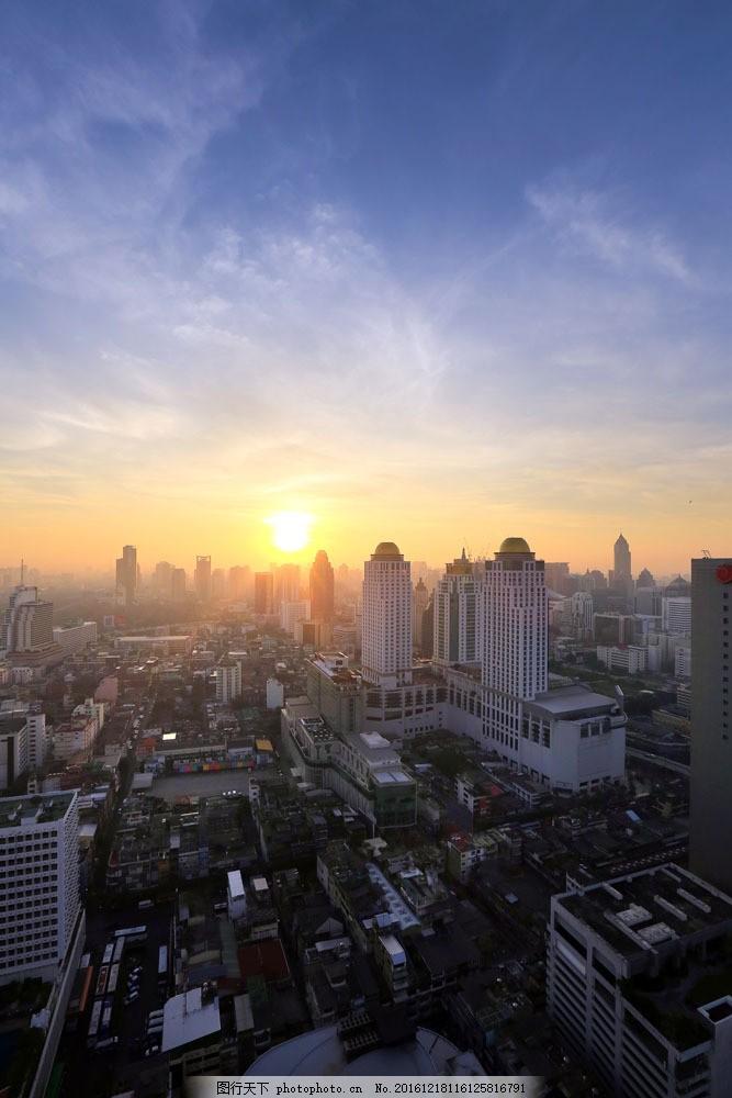 黄昏城市风景图片