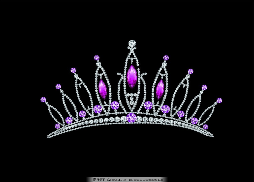 公主 女王钻石 皇冠矢量图