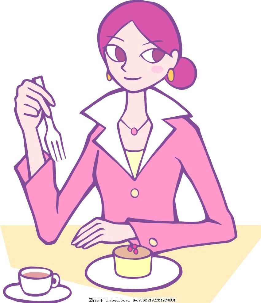 早餐可爱简笔画