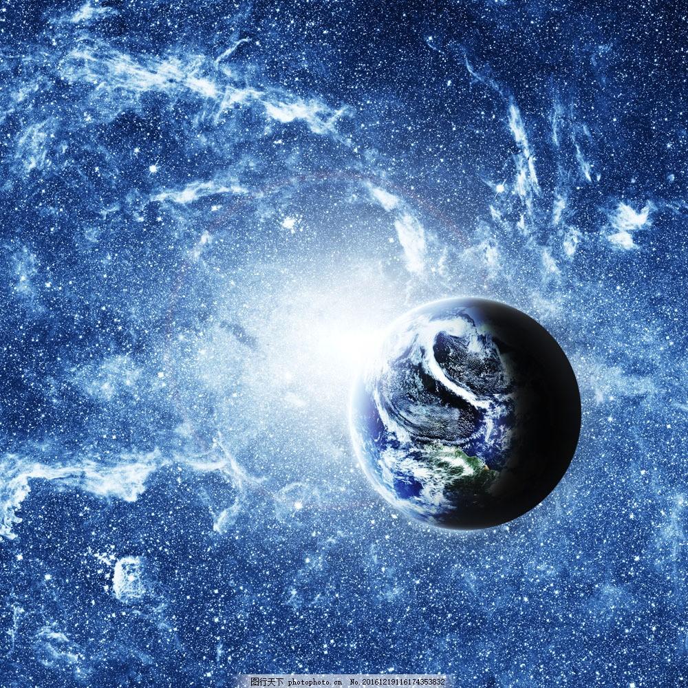 宇宙星空中的地球图片素材 地球 家园 地球母亲 宇宙 星球 星空 行星