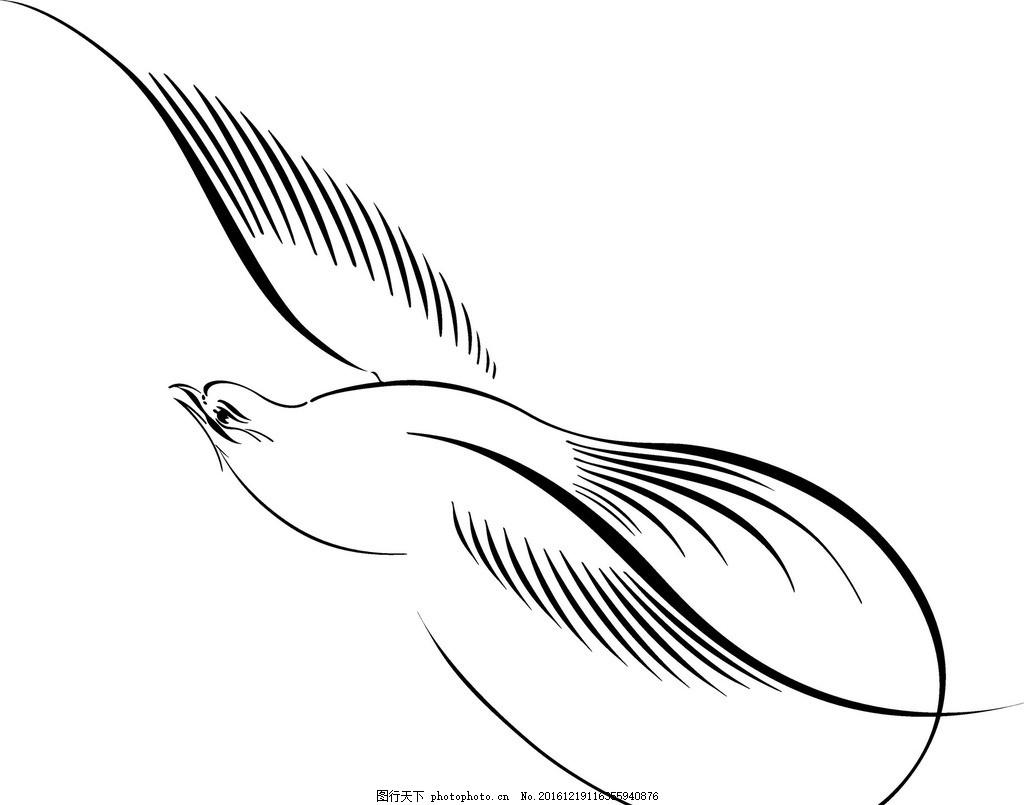 小鸟简笔画 风景